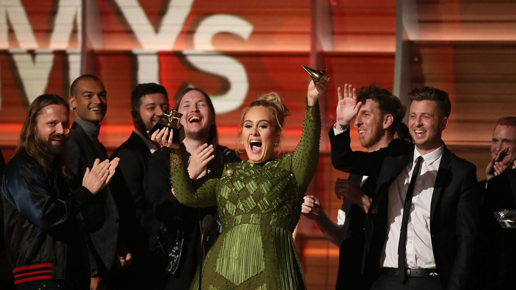 LIVE: Adele trumps Beyonce to win five Grammy Awards