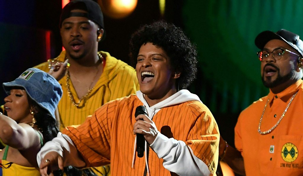 Bruno Mars wins six Grammys including album of the year