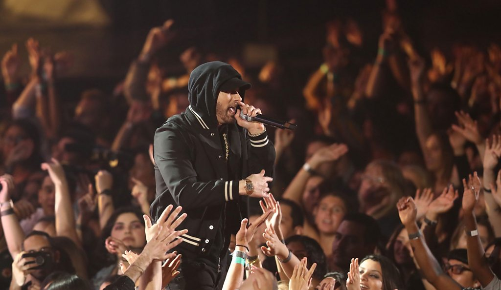 Eminem attacks NRA at iHeart Radio Awards